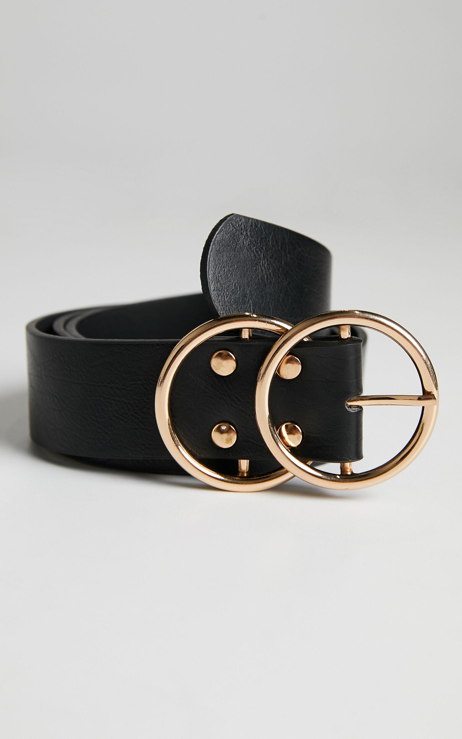 Midnight Charm Belt in Black And Gold Croc, BLK1, super-hi-res image number null