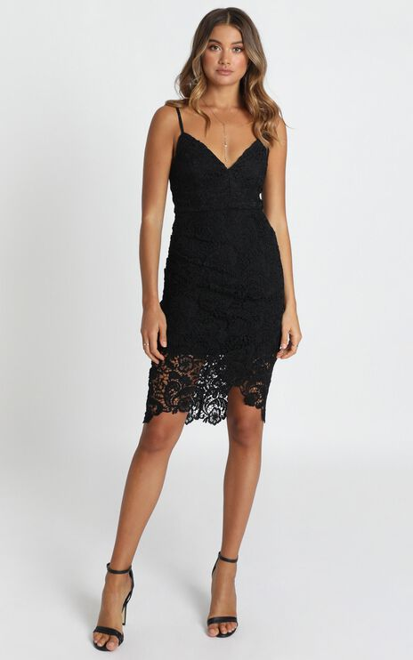 Typical Lover Dress In Black Lace