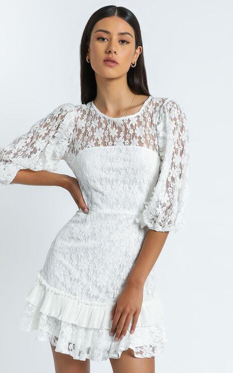 Leilei Dress in White