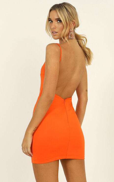 Here In Paradise Dress In Orange