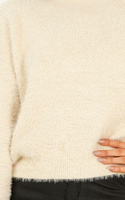 Talking Angels knit jumper in beige - M/L, Beige, hi-res image number null
