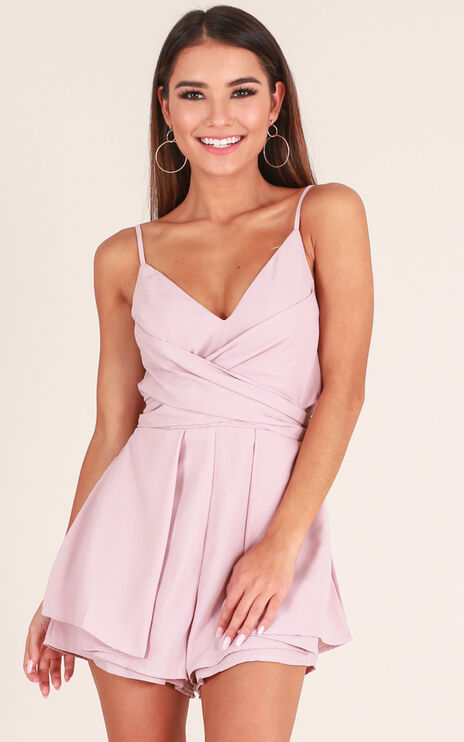Wish You Would Playsuit In Blush