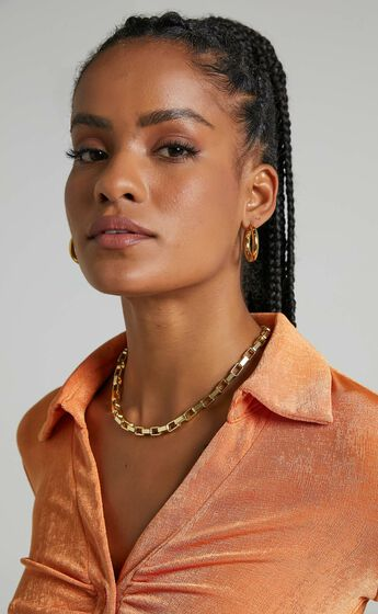 Peta and Jain - Sapphire Earrings in Gold