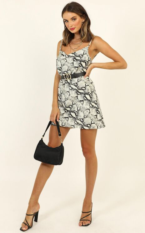 Im About You Slip Dress In Snake Print