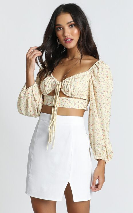 Isnt It Lovely Top In Yellow Floral