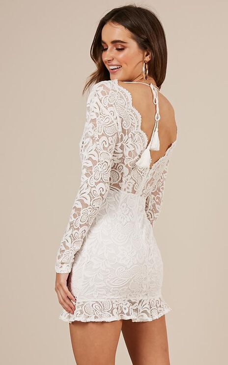 For Yourself Dress In White Lace