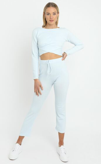 Deanna Knit Top in Baby Blue