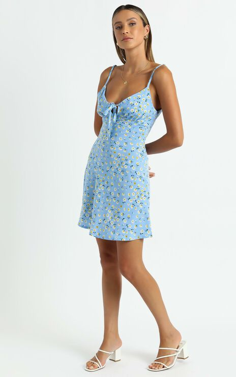 Texas Dress in Blue Floral