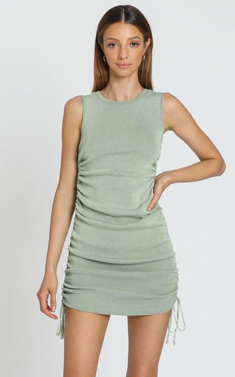 Lioness - Military Minds Dress in Pistachio