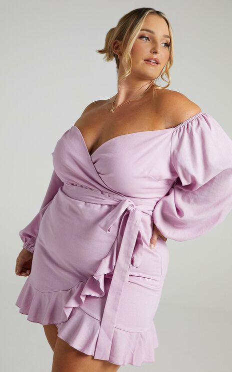 Cant Move On Dress in Lilac