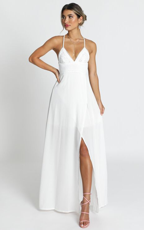 Running Free Maxi Dress In White