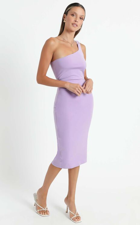 Got Me Looking Dress In Lilac