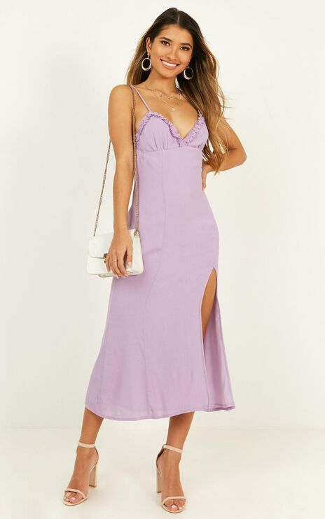 Intrinsic Girl Dress In Lilac