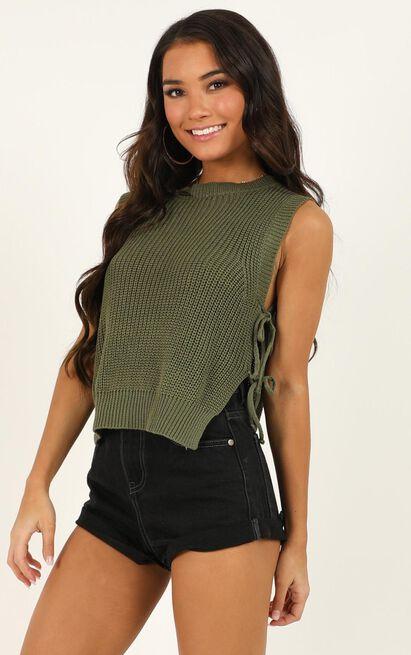 Golden Explorer Knit Top in khaki - 14 (XL), Khaki, hi-res image number null