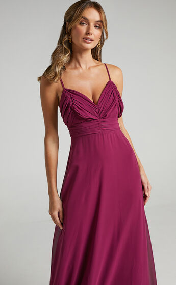 Just One Dance Dress in Mulberry