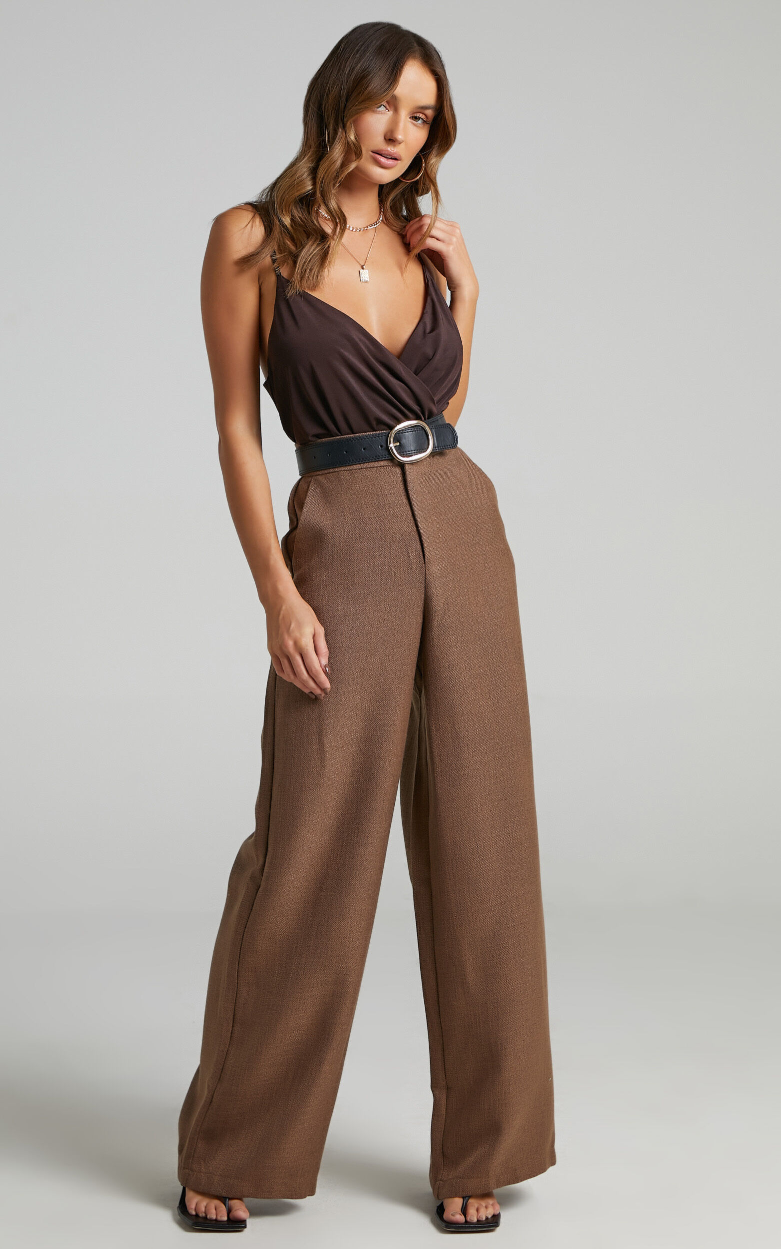 Kiros Wrap Bodysuit in Chocolate - 06, BRN3, super-hi-res image number null