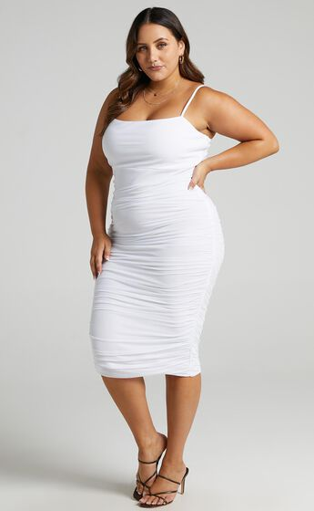 Coming For You Dress in White Mesh