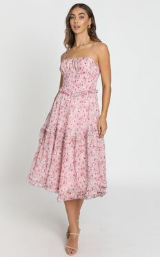 Danielle Dress in pink floral