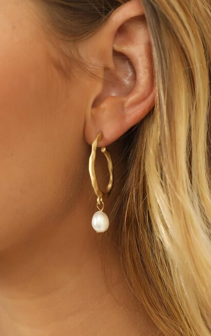 Special Request Earrings In Gold And Pearl, , hi-res image number null