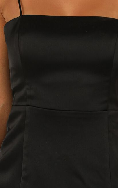 My Love Is Yours Dress in black satin - 20 (XXXXL), Black, hi-res image number null