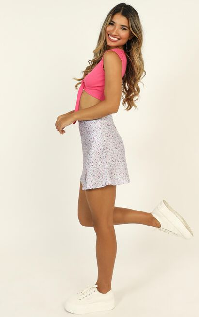Have A Crush skirt in lilac floral - 16 (XXL), Purple, hi-res image number null