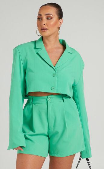 Danielle Bernstein - Trouser Short in Green