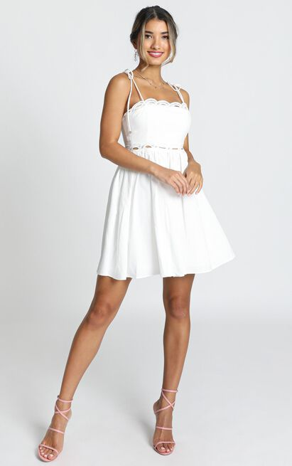 Get Out Right Now Dress in white linen look - 20 (XXXXL), White, hi-res image number null