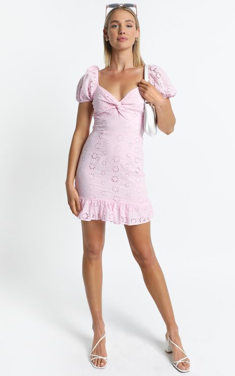 Audley Dress in Pink