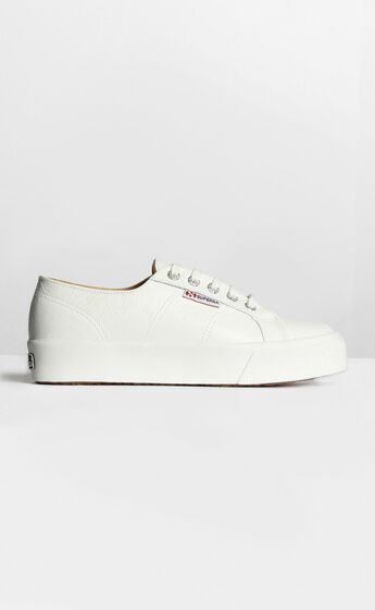 Superga - 2730 Nappaleau Sneakers in White Leather
