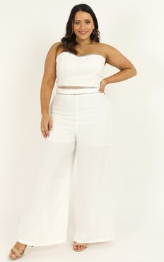 The Real Me Two Piece Set In White