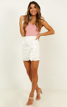 Back To Love Skirt In White