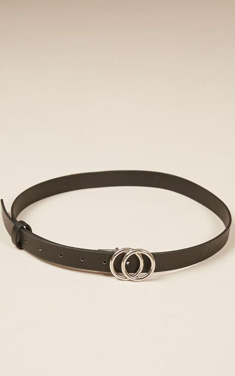 Gold Digger Belt In Black And Silver