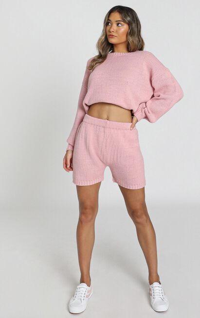 Loretta Knitted Shorts in rose - S, Pink, hi-res image number null