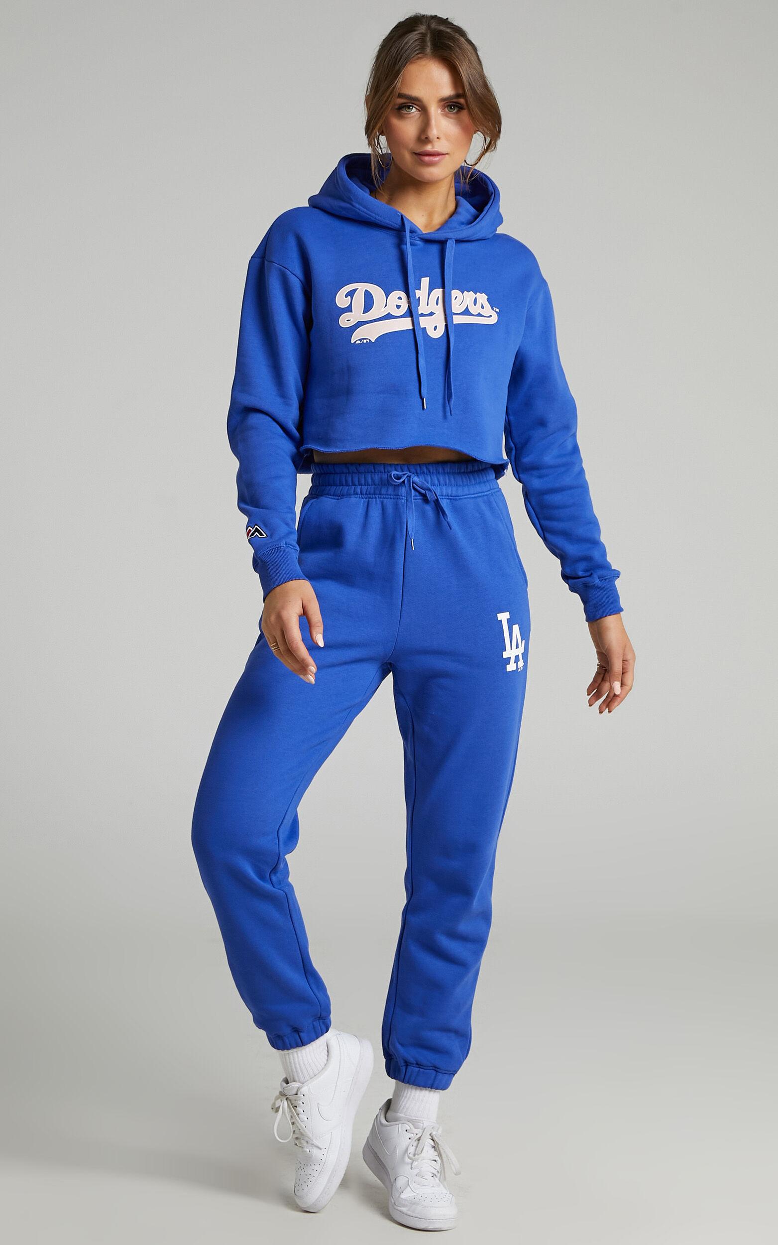 Majestic - Baggy LA Dodgers Logo Trackpants in Dazzling Blue - L, BLU1, super-hi-res image number null