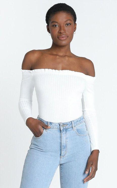 Fresh As A Daisy Bodysuit In White