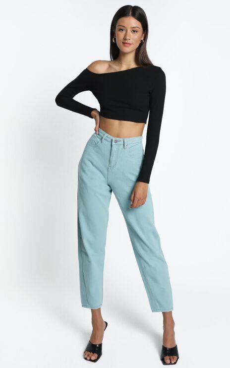 Audra Denim Jeans in Sage