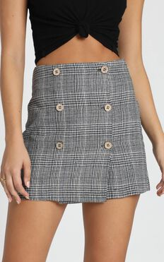 Thoughts Of You Skirt In Black Check