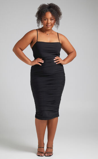 Coming For You Dress in Black Mesh