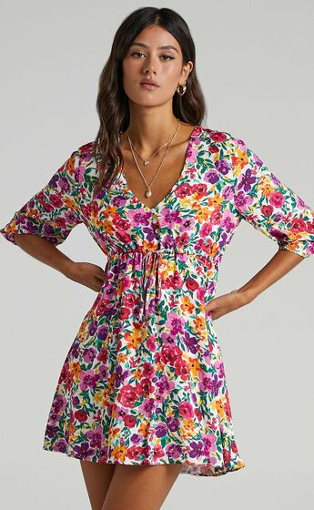 Lilliana Dress in Packed Floral