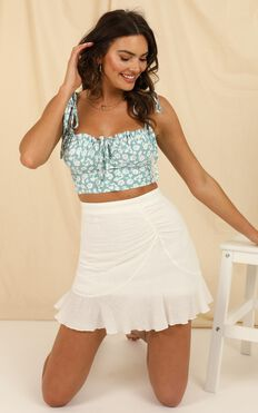 Call Me Yours Skirt In White