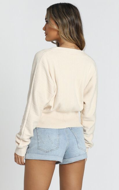 Bundled Up Knit Top in cream - 14 (XL), Cream, hi-res image number null
