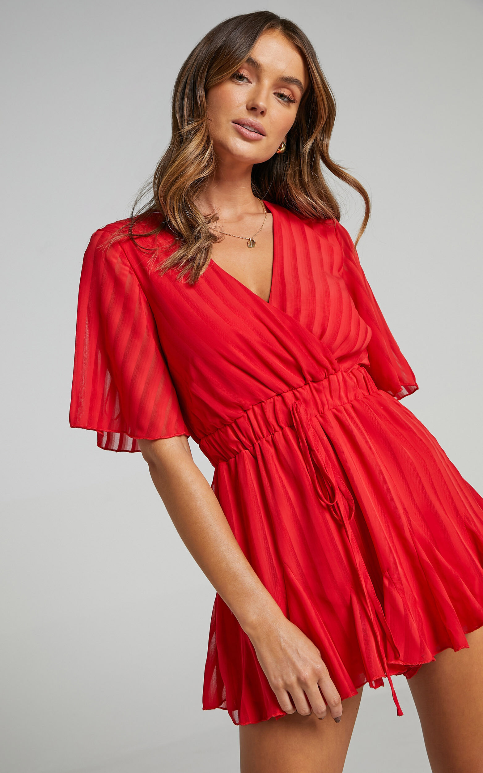 Play On My Heart Playsuit in Red - 04, RED4, super-hi-res image number null