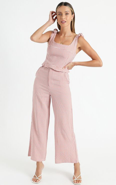 Harley Two Piece Set In Blush Check