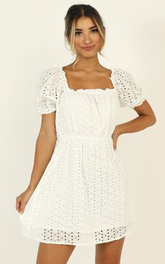 Change My World Dress In White Lace