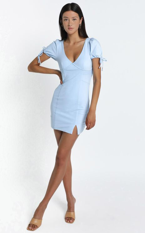 Honey Dress in Powder Blue