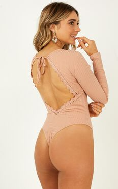 La Moda Bodysuit In Blush