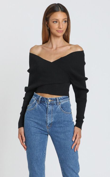 Besotted Ribbed Knit in Black