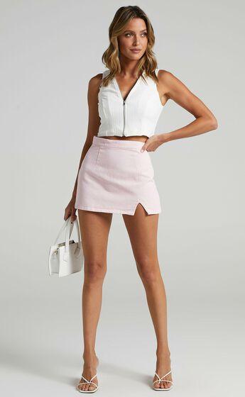 Berri Denim Skirt in Pink