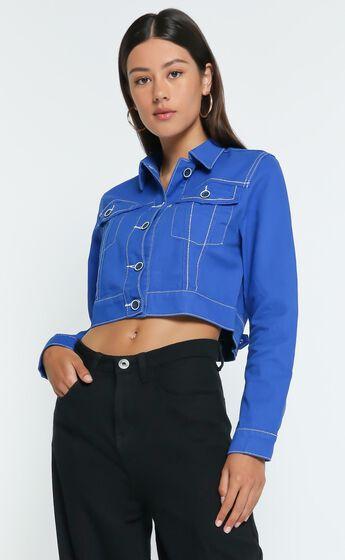 Lioness - Reign Denim Jacket in Cobalt Blue