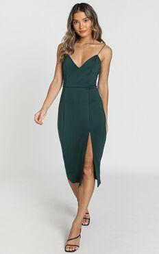 Big Ideas Dress In Emerald